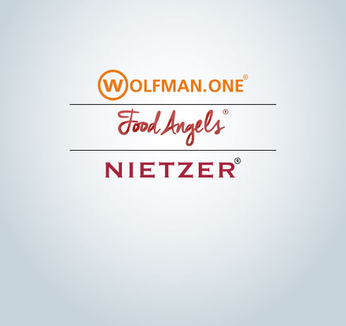 WOLFMAN.ONE®, FOOD ANGELS® GERMANY, NIETZER®
